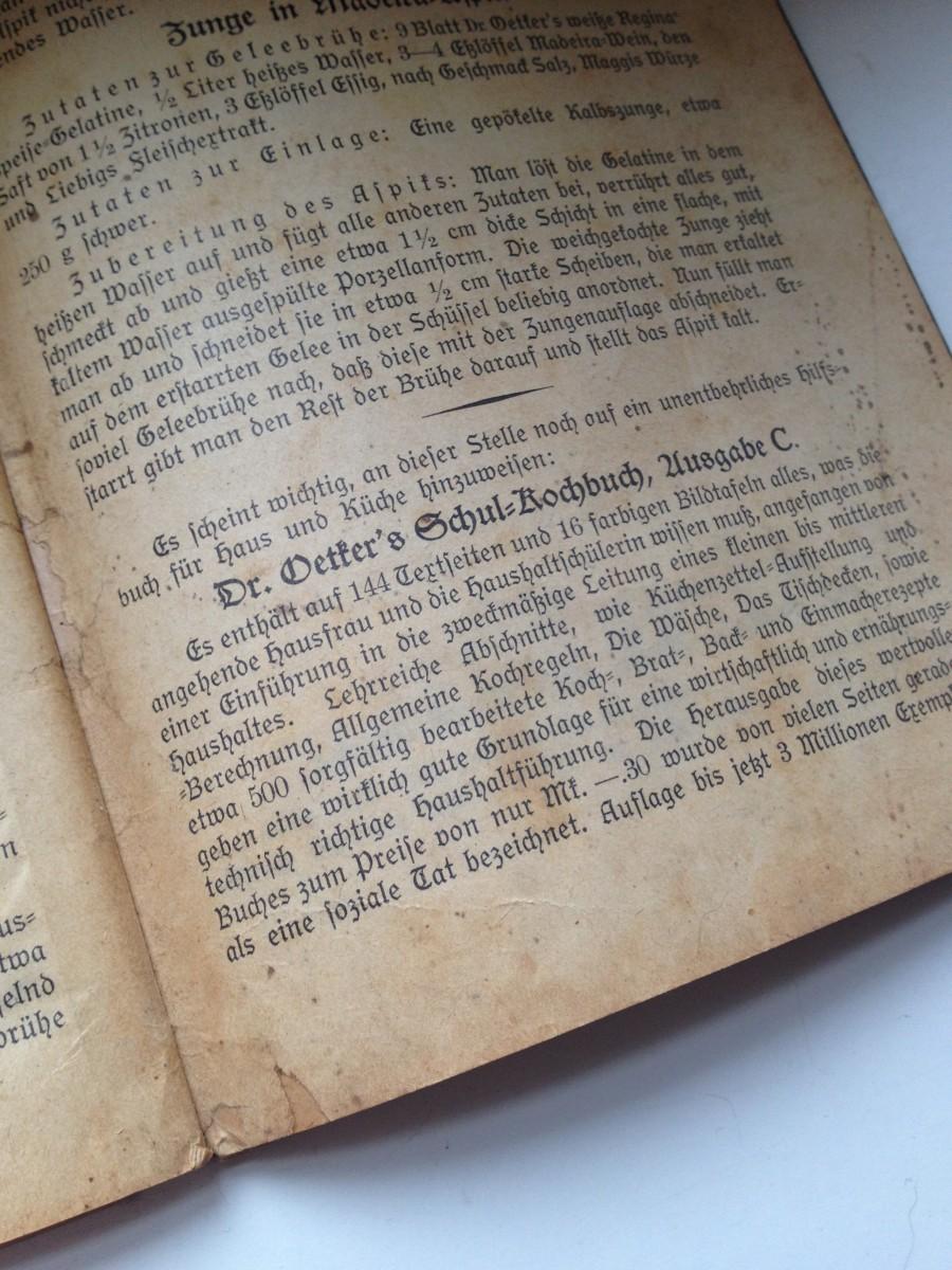 Backbuch Antiquität von Dr. Oetker