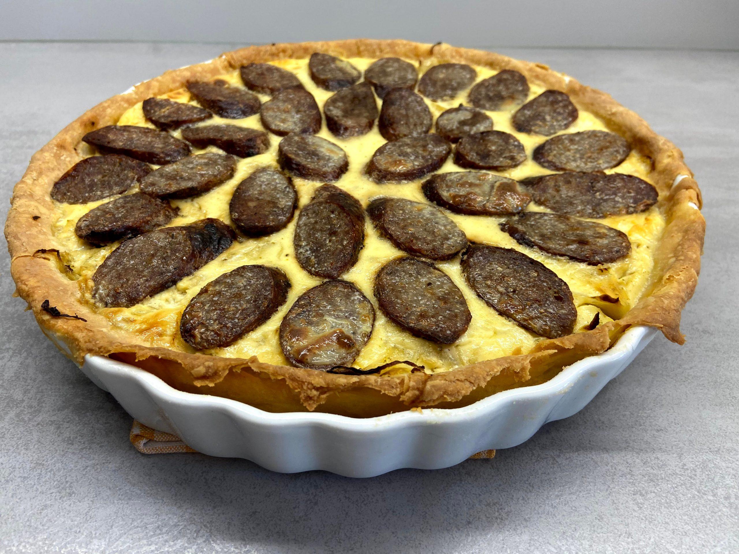 Bratwurst-Sauerkraut-Quiche
