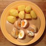 Eier mit Senfsoße