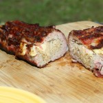 German Bacon Bomb Anschnitt