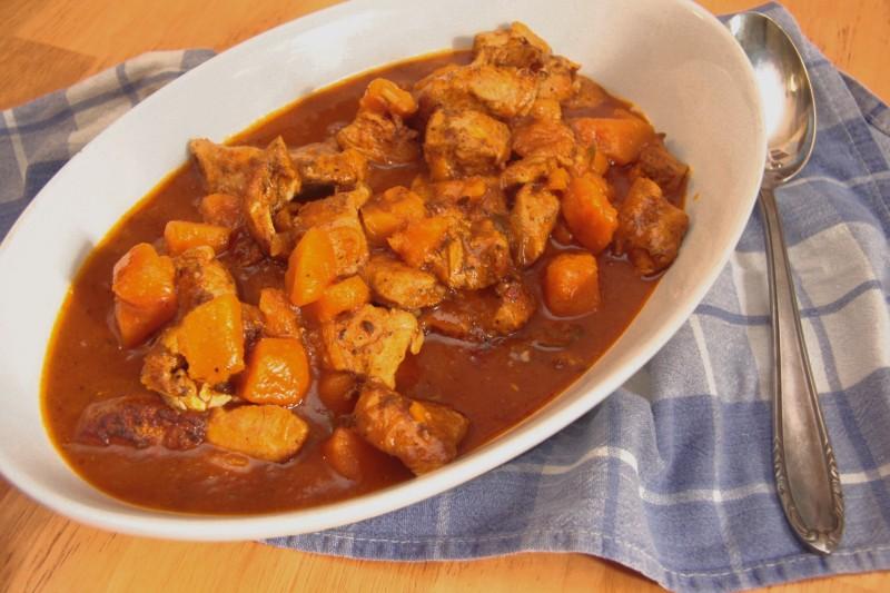 Rezept: Hähnchen-Kürbisragout