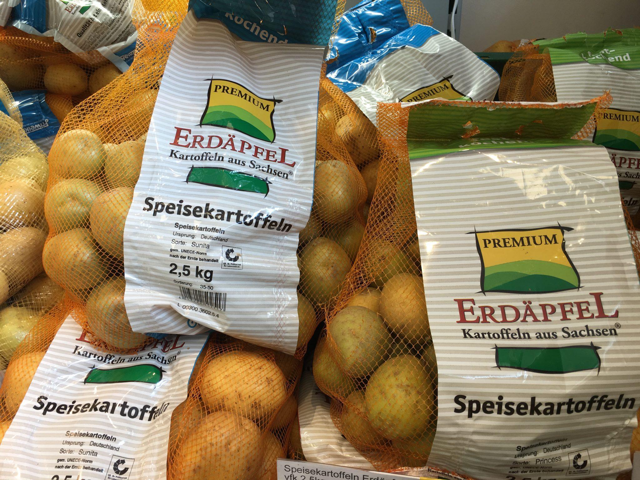 Erdäpfel - Premium Kartoffeln aus Sachsen (Kartoffeln im Netz)