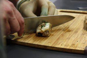 Cannelloni vom Kräuterseitling mit Spitzkohl und Lammhack
