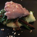 Red Snapper und Bohnen auf Wasabi-Kartoffelpürree - La Fonderie