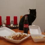 Katerfrühstück von Katerkönig mit Kater Cosimo