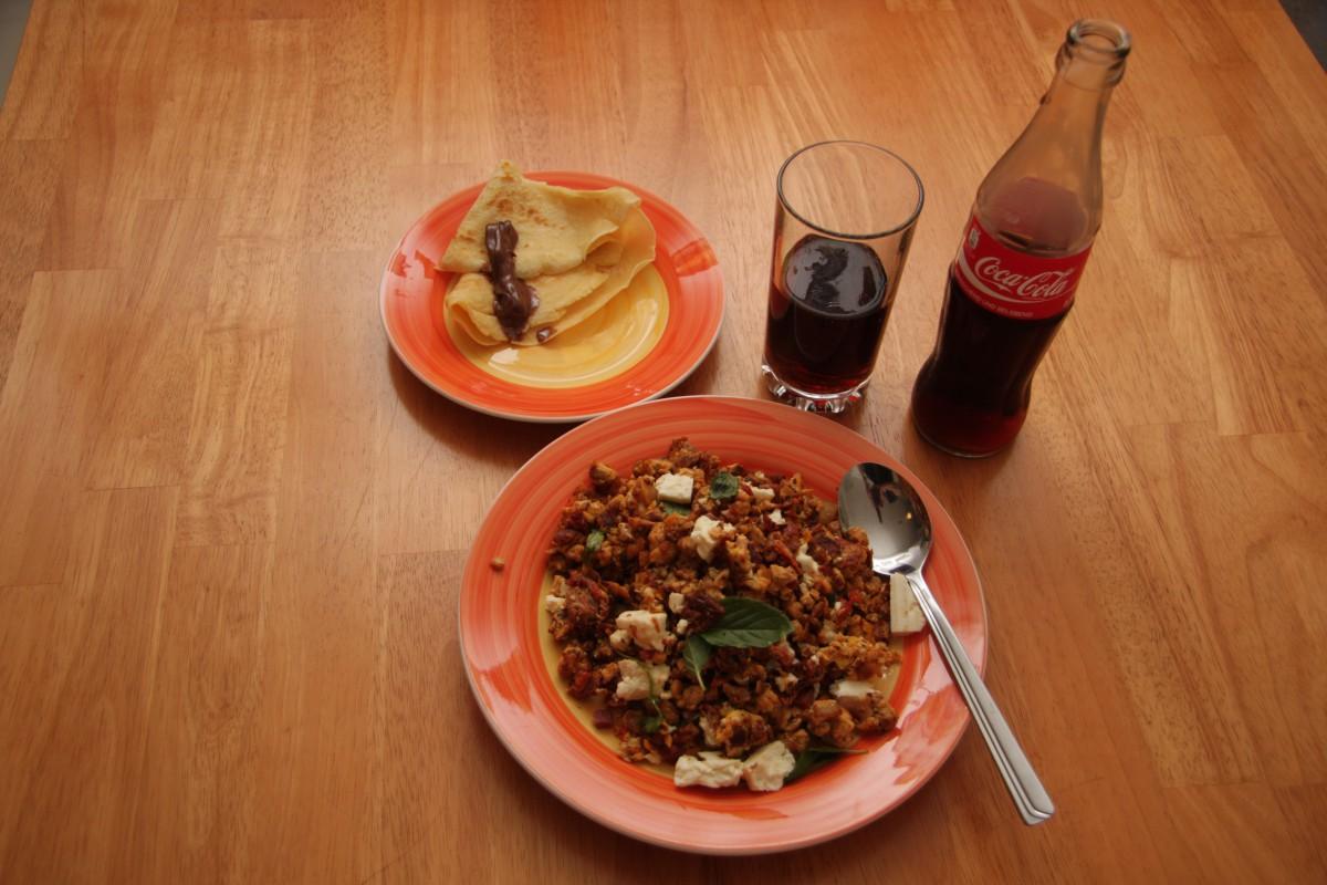 Großer Schnurrer mit Speck, Pancak und Coke von Katerkönig