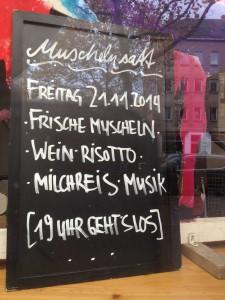 Muscheln Wein Risotto Milchreis Musik