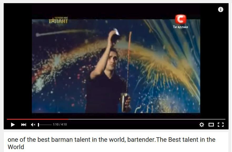 Alexander Shtifanov - Worlds best Bartender